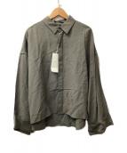 ()の古着「レーヨンショートシャツ」 グレー