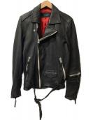 ()の古着「ダブルライダースジャケット」 ブラック