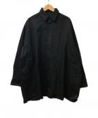 TARO HORIUCHI(タロウホリウチ)の古着「デニムシャツ」 ブラック