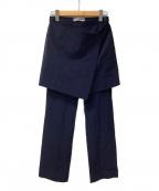 ISSEY MIYAKE WHITE LABEL(イッセイミヤケホワイトレーベル)の古着「パンツ」 ネイビー