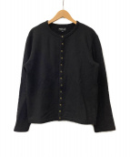 agnes b homme(アニエスベーオム)の古着「内ボアカーディガン」|ブラック