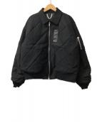 TTT MSW(ティー)の古着「パッチワークリバーシブルMA-1ジャケット」|ブラック
