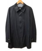 BURBERRY BLACK LABEL(バーバリーブラックレーベル)の古着「ステンカラーコート」|ネイビー