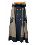Ameri(アメリ)の古着「チェックトレンチスカート」|グレー