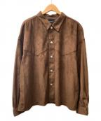 superNova(スーパーノヴァ)の古着「ベロアビックシャツジャケット」|ブラウン