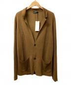 ROBERTO COLLINA(ロベルトコリーナ)の古着「リネンニットジャケット」 ブラウン