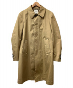 ()の古着「ボンディングギャバステンカラーコート」 ベージュ