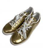 adidas(アディダス)の古着「ローカットスニーカー」|ゴールド
