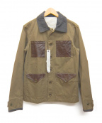 Manual Alphabet(マニュアルアルファベット)の古着「レザーポケットジャケット」|ブラウン