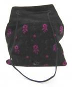 PRADA(プラダ)の古着「巾着ベルベットハンドバッグ」|ブラック