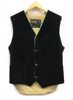 SCHOTT BROS.(ショットブロス)の古着「スエードスプリットボアベスト」|ブラック