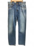 NUDIE JEANS(ヌーディジーンズ)の古着「5ポケットジーンズ」|インディゴ