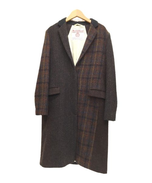 UNITED ARROWS(ユナイテッドアローズ)UNITED ARROWS (ユナイテッドアローズ) シングルウールコート ブラウン サイズ:Mの古着・服飾アイテム