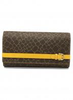 NINA RICCI(ニナリッチ)の古着「長財布」|ブラウン×イエロー