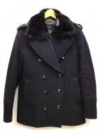 BURBERRY BLACK LABEL(バーバリーブラックレーベル)の古着「ショート丈Pコート」|ブラック