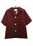 ()の古着「オープンカラーシャツジャケット」 ボルドー