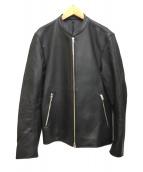 ()の古着「シングルライダースラムレザージャケット」 ブラック