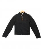 IRON HEART(アイアンハート)の古着「シルクライダースジャケット」|ブラック