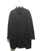 BOSS HUGO BOSS(ボスヒューゴボス)の古着「ステンカラーコート」|ブラック
