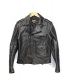 BUCO(ブコ)の古着「ダブルライダースジャケット」 ブラック