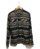 Patagonia(パタゴニア)の古着「Fjord Flannel Shirt」 オリーブ