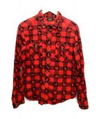 ()の古着「総柄シャツ」|レッド