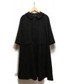 tricot COMME des GARCONS(トリコ コム デ ギャルソン)の古着「丸襟フレアスリーブコート」|ブラック