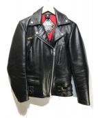 GMAC(ジーエムエーシー)の古着「ダブルライダースジャケット」|ブラック
