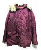 AVIREX(アビレックス)の古着「N-3Bタイプコート」|ワインレッド