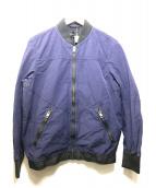 ()の古着「ヴィンテージ加工MA-1ジャケット」|ネイビー