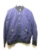 DIESEL(ディーゼル)の古着「ヴィンテージ加工MA-1ジャケット」 ネイビー