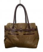 genten(ゲンテン)の古着「ベルテッドレザートートバッグ」|ブラウン