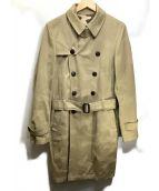lucien pellat-finet(ルシアン・ペラフィネ)の古着「カモフラトレンチコート」|ベージュ