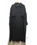Ys(ワイズ)の古着「ロングコート」|ブラック