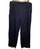 Martin Margiela 10(マルタンマルジェラ10)の古着「2011SS イージーワイドパンツ」|ネイビー