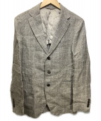 PAPAS(パパス)の古着「リネン3Bジャケット」|ベージュ