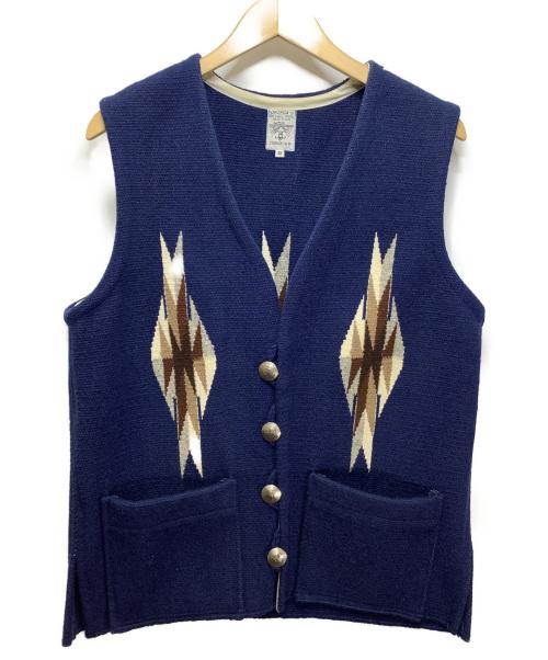 ORTEGAS(オルテガ)ORTEGAS (オルテガ) チマヨベスト ブルー サイズ:38の古着・服飾アイテム