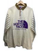 THE NORTH FACE(ザノースフェイス)の古着「RUGBY SHIRT」|ベージュ