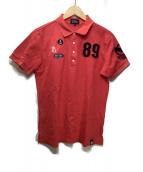 PEARLY GATES(パーリーゲイツ)の古着「鹿の子ゴルフポロシャツ」|レッド