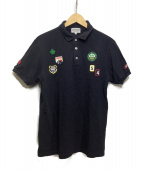 PEARLY GATES(パーリーゲイツ)の古着「鹿の子ポロシャツ」|ネイビー