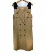 STRAWBERRY FIELDS(ストロベリーフィールズ)の古着「トレンチコート風ワンピース」|ベージュ