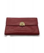 IL BISONTE(イルビゾンテ)の古着「長財布」|レッド