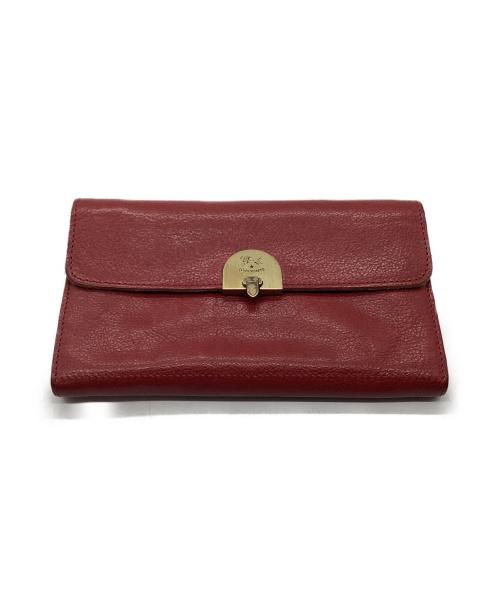 IL BISONTE(イルビゾンテ)IL BISONTE (イルビゾンテ) 長財布 レッド 5422305740の古着・服飾アイテム
