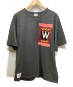 WTAPS(ダブルタップス)の古着「TREMOR 01 ワッペンデザインTシャツ」|グレー
