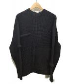 OAMC×Ron Herman(オーエーエムシー×ロンハーマン)の古着「Paneled Knit Sweater」|ネイビー