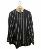 CULLNI(クルニ)の古着「ストライプクレリックシャツ」|ブラック