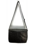 EMPORIO ARMANI(エンポリオアルマーニ)の古着「メッセンジャーバッグ」|ブラック