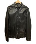 TATRAS×LAT40.8(タトラス×ラットフォーティポイントエイト)の古着「レザーシャツ」|ブラック