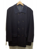 COMME des GARCONS HOMME(コムデギャルソン・オム)の古着「コーデュロイ襟ウールコート」|ネイビー