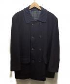 COMME des GARCONS HOMME()の古着「コーデュロイ襟ウールコート」|ネイビー